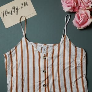 [Live 4 Truth] Striped Button Front Tank - NWT